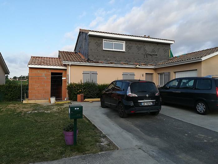 01-surelevation-maison-toulouse-aussonne in Surélévation et extension au sol dune maison à Aussonne (31)