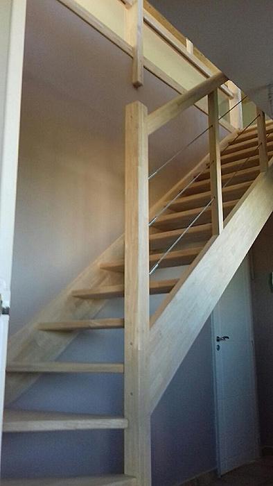 05-surelevation-maison-vacquiers-escalier-31 in Surélévation dune maison à Vacquiers (31)