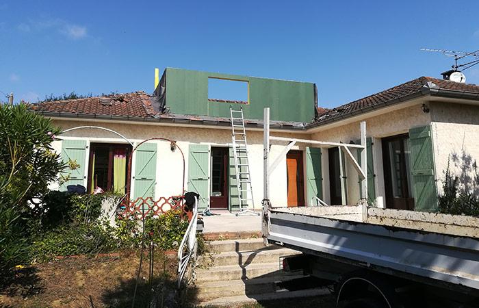 02-Surelevation-maison-aussonne-60m2 in Surélévation dune maison à Aussonne (31)