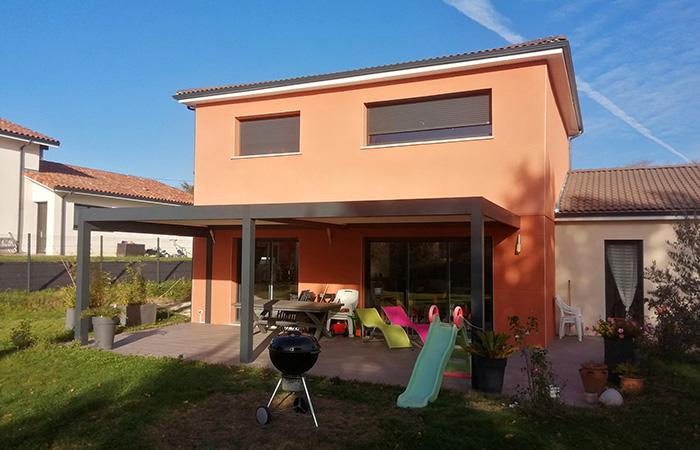 Aussonne-surelevation-maison-22 in Construction, surélévation, extension et rénovation de maison bois ou briques à Toulouse (31)
