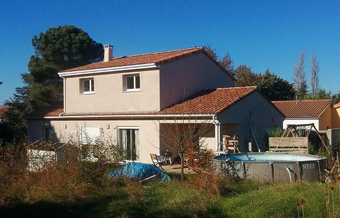 Surelevation-maison-escalquens-22 in Construction, surélévation, extension et rénovation de maison bois ou briques à Toulouse (31)